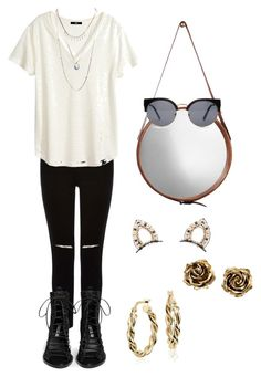 """""""blck & whte"""" by bryannamendes ❤ liked on Polyvore featuring Oasis, Ann Demeulemeester, Blue Nile, Jamie Young, H&M, Tiffany & Co., Erickson Beamon, Wet Seal, Forever 21 and women's clothing"""