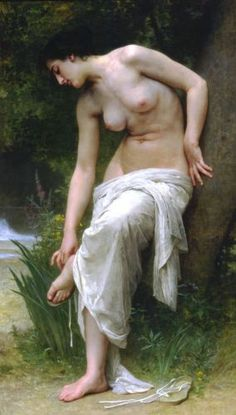 William Adolphe Bouguereau, After The Bath 2