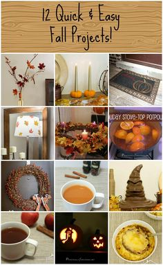 12 Quick & Easy Fall Projects