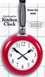 Metal Frying Pan Kitchen Clock (Red) -- Details can be found by clicking on the image. (This is an affiliate link and I receive a commission for the sales) Office Gag Gifts, Gag Gifts For Men, Stir Fry Pan, Kitchen Clocks, Unique Gadgets, Fries, Clock Decor, Wall Clocks, Metal