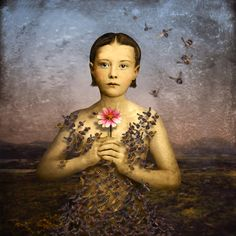 'Girl with a Bee Dress' (2012) by American artist Maggie Taylor (b.1961). Digital print. via Catherine Couturier Gallery
