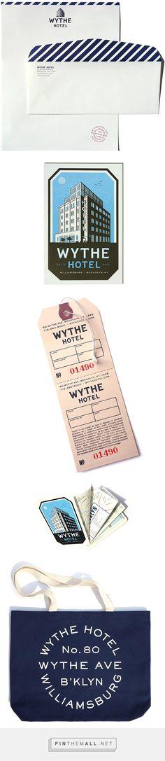 Wythe Hotel Branding by Derick Holt Hotel Branding, Hotel Logo, Brand Packaging, Packaging Design, Wythe Hotel Brooklyn, Brooklyn Hotels, Warehouse Design, Vintage Hotels, Menu Design