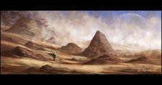 Mark Molnar - Sketchblog of Concept Art and Illustration Works: Project Dune - Sandstorm