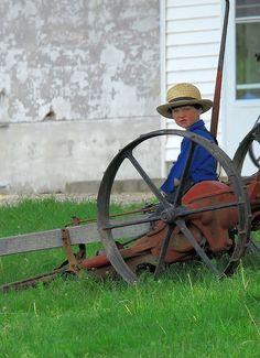 Cute Amish boy.
