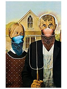 American Gang Gothic (Canvas Art)