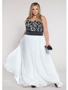 Plus Size Prom Dresses for Girls 2 Piece