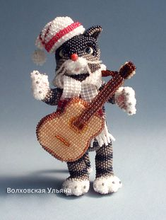 New beaded toys by Ulyana Volhovskaya, Looking for pattern so I can bead one for my brother.