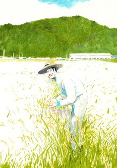2011 rice farmer Graphic Design Illustration, Illustration Art, Illustrations, Character Art, Character Design, Drawing Sketches, Drawings, Colored Pencils, Farmer