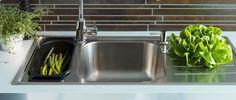 IKEA Boholmen sink with cute throwback drainboard