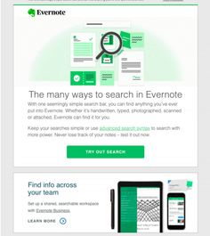 Big Book of SaaS Email Examples - Volume Ten Onboarding / Free Trial Email Series Email Campaign, Evernote, All The Way Down, Email Marketing, Insight, Competition, Messages, In This Moment, How To Plan
