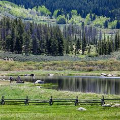 A perfect morning for casting a line at the Ranch's lower pond at Devil's Thumb Ranch Resort & Spa in Tabernash, Colorado. #fly-fishing