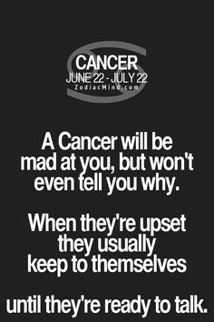 This is because we seriously try to not show our Dr. Jekyll side because most people will think we are overreacting or that we are insane. We are not crazy, we just know too much and if angered, we will say what others fear most. Most people are not ready for our wrath. They think they are but they're not. #cancer #cancerian