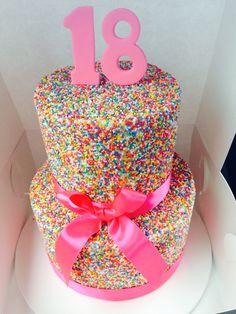 18th Birthday Cake! Hundreds and Thousands by Cakes2go ! 메가플레이온카지노마리나베이샌즈카지노다모아바카라태양성바카라