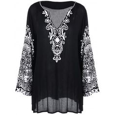 SHARE & Get it FREE | Plus Size Graphic Flare Sleeve Longline BlouseFor Fashion Lovers only:80,000+ Items·FREE SHIPPING Join Dresslily: Get YOUR $50 NOW!