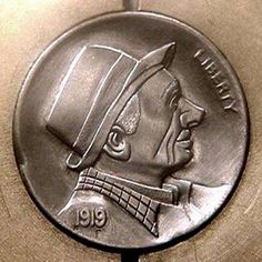 Cliff Kraft Hobo Nickel, Cliff, Buffalo, Classic Style, Cactus, Carving, Dibujo, Wood Carvings, Sculptures