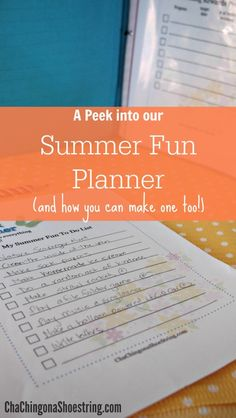 Want to create a fun and meaningful summer for your kids, but don't know where to start? Take a peek into our Summer Fun Planner. Then make one of your own with the free printable summer planner!