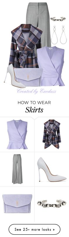 """""""Plaid"""" by exoduss on Polyvore featuring Alexander McQueen, Carven, Hayward, Casadei, Miu Miu, Yves Saint Laurent, contestentry and NYFWPlaid"""
