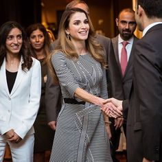 22 September 2016 - Queen Rania at an event to raise awareness about the work of the Royal Health Awareness Society