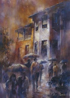 Street Watercolor Paintings by Lin Ching-Che   Cuded