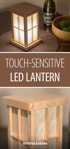 Touch-sensitive LED Lantern #lighting #woodworking