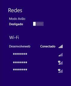 Como encontrar a senha da minha Wi-Fi no Windows 8?