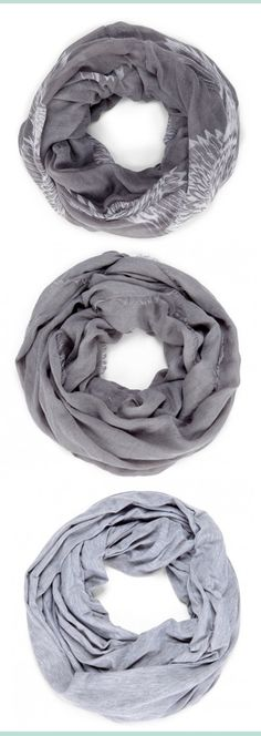 Grey Infinity Scarves