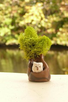 Fairy Garden Tree with an Owl Miniature by adorablyimperfect