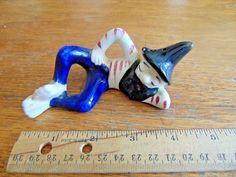 """Vintage 4.5"""" Ceramic sleeping Hillbilly  shaker Figurine"""
