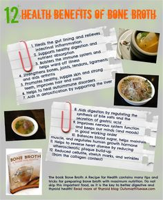 """Some say, """"Good bone broth can resurrect the dead!"""" While I can't vouch for that, I can tell you that there is extensive research showing that bone broth has some pretty incredible health benefits. Here are just a few bone broth benefits that might be of interest to people with autoimmune thyroid conditions  and hypothyroidism http://outsmartdisease.com/bone-broth-recipes-for-autoimmune-thyroid-diet/"""