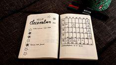 Die Bullet Journal Seiten für den Dezember sind fertig! handlettering, Aufkleber, Monatsübersicht, Wochenübersicht