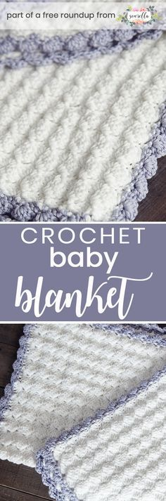 Crochet this easy beginner Vintage Chic baby blanket from Leelee Knits from my best free crochet baby blankets for girls roundup!