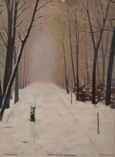 Peter Brook, In The Woods, Training The Dog (Again) | Paintings For Sale | Specialists In Modern British Art | Gateway Gallery Ltd