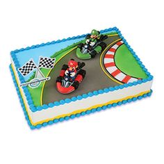 Nintendo Super Mario Kart Mario & Luigi Racers Cake Topper Decoration
