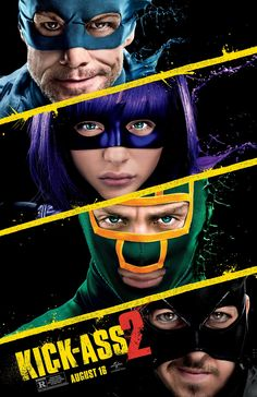 KICK-ASS 2 movie poster 7 with Colonel Stars and Stripes, Kick-Ass, Hit-Girl and The Mother F#cker