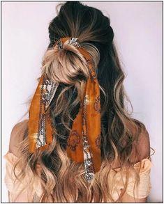 Half up half down hair do Trendy Hairstyles for Long Hair. Braided hair hair scarf styles, headband hairstyles, scarf hairstyles, hair accessories, summer hairstyles Half up half down braided hairstyle. Hair Scarf Styles, Curly Hair Styles, Natural Hair Styles, Hair With Scarf, Summer Hairstyles, Trendy Hairstyles, Braided Hairstyles, Scarf Hairstyles Short, Half Up Half Down Hair