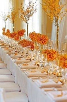 Wedding, Orange, Yellow, Modern wedding flowers decor, Fall wedding flowers decor - Project Wedding