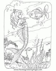 Reading Mermaid Series 2 5 Digital Mermaid Coloring ...