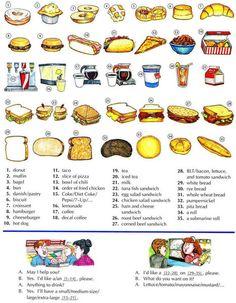 La comida rápida y bocadillos lección Inglés | Aprender Inglés básico, a lo largo de 700 lecciones en línea avanzada y Ejercicios gratis | Scoop.it