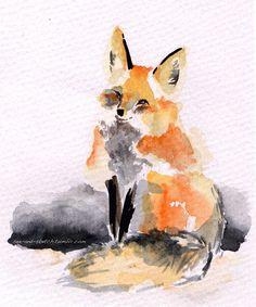 See and Sketch: Watercolour Red Fox Fox Painting, Painting & Drawing, Watercolor Paintings, Watercolours, Fuchs Tattoo, Illustration Photo, Fox Drawing, Tinta China, Fox Art