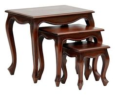 EXP eee10288 Silden Walnut Mahogany Nest of Tables * You can find more details by visiting the image link.