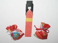 Vintage Sachet with Origami Doll Book Marker Mascot