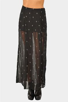 #Necessary Clothing       #Skirt                    #Small #Cross #Maxi #Skirt #Black #Necessary #Clothing                        Small Cross Maxi Skirt - Black at Necessary Clothing                                                    http://www.seapai.com/product.aspx?PID=8587
