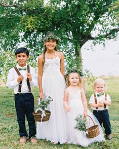 07bb6e570ba Nephews and nieces were ring bearers and flower girls. The girls tossed  white garden-