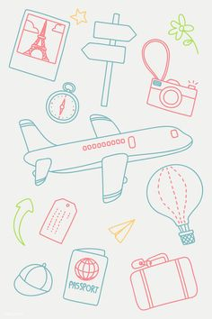 Download free vector of Hand drawn travel element vector set 936649