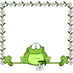 Sapo Frog Pictures, Boarders And Frames, Frog Theme, Frog Art, Cute Clipart, Frame Clipart, Cute Frogs, Borders For Paper, Frog And Toad