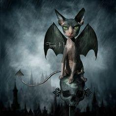 Demon Bat Cat by Toon Hertz