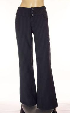 LULULEMON Carry Less Pants Size 4 S Black Pinstripe Work Play Coated Rare #Lululemon #PantsTightsLeggings