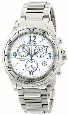 Citizen Women's FB1350-58A Chronograph Analog Display Japanese Quartz Silver Watch