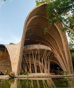 Concept Models Architecture, Bamboo Architecture, Facade Architecture, Sustainable Architecture, Beautiful Architecture, Futuristic Architecture, Bali, Bamboo House Design, Tulum