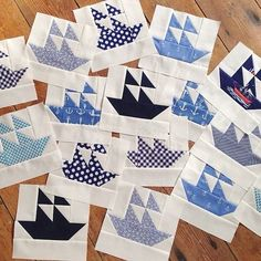 I've startedworking on a nautical boat quilt which I've been meaning to do for ages, but really, like I need another new project!? Th...